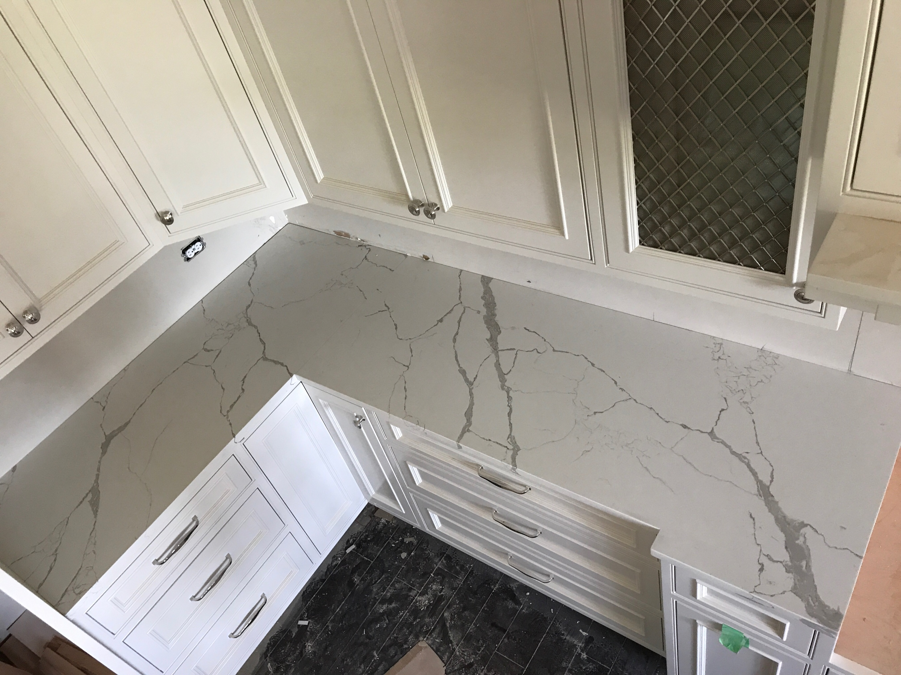 calcutta quartz kitchen